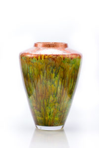 """Grecian"" Reverse Painted Vase"